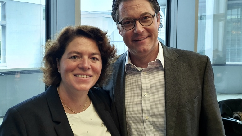 Mit dem zuständigen Bundesminister Andreas Scheuer MdB