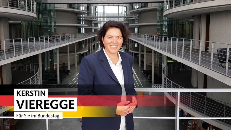 Kerstin Vieregge MdB, für Sie im Bundestag. Direkt gewählte Abgeordnete für den Wahlkreis 135 - Lippe I