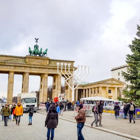 Brandenburger Tor, Chanukka, Weihnachtsbaum