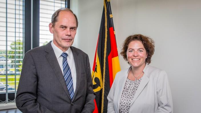 Kerstin Vieregge MdB mit Präsident Georg Stuke