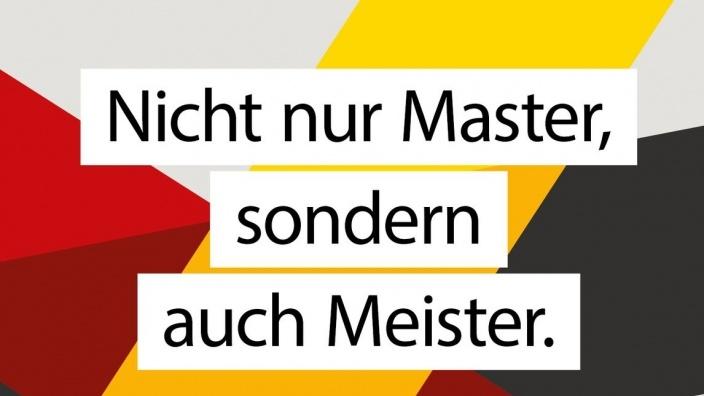 Nicht nur Master, sondern auch Meister.